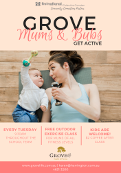 'Mums and Bubs' fitness event, held at Harrington Grove Country Club Gym for residents 2018